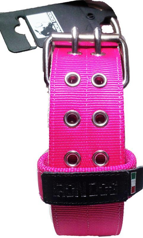 Collare rosa doppia fibbia-0