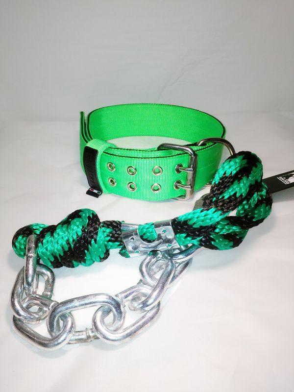 Collare e guinzaglio BLACK / GREEN-0