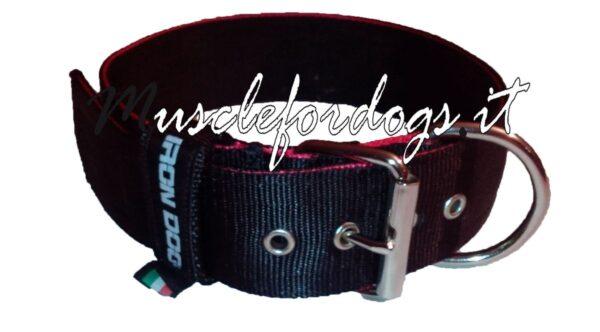 Collare irondog nero con bordo-1170