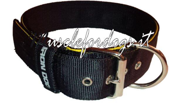 Collare irondog nero con bordo-0